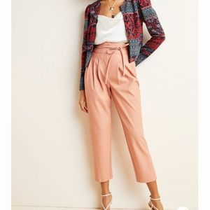 New Anthropologie Tapered Faux Leather Pants